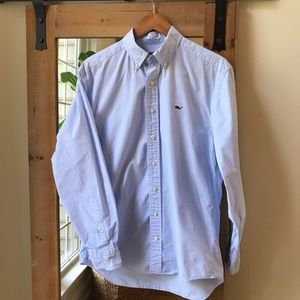 Vineyard Vines Blue Pinstripe Whale Shirt